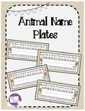 Animal Name Plates