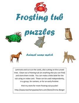 Animal Name Puzzle