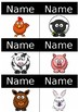 Animal Name Tags