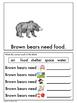 Animal Needs: A Brown Bear's Needs