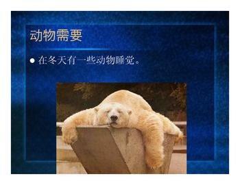 Animal Needs Chinese PPT
