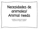 Animal Needs (English & Spanish)