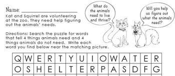 Animal Needs Primary