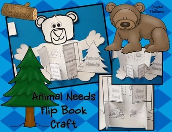 Animal Needs Flip Book Craftivity