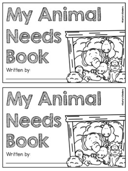 Animal Needs Research Book