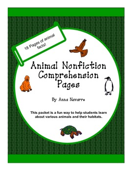 Animal Nonfiction Comprehension Pages