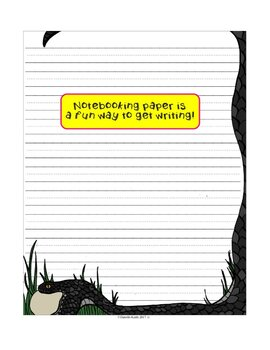 Animal Notebooking Paper Combo Pack with Wide Rule and Guide Lines