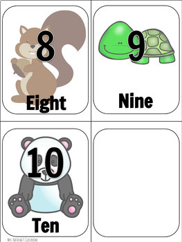 Animal Number Cards (0-10)