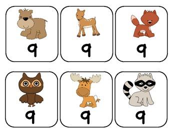 Animal Number Flash Cards 0-10