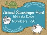 Animal Number Hunt: Write the Room
