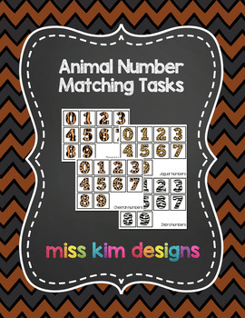 Animal Number Matching Folder Games for students with Autism
