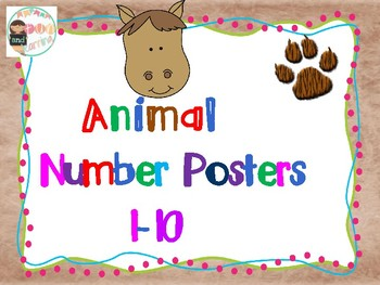 Animal Number Posters 1-10