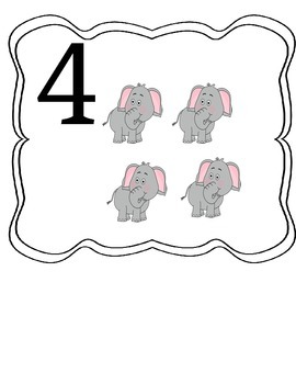 Animal Number Posters 1-5