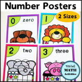 Number Posters for 0 through 20 Animal Theme