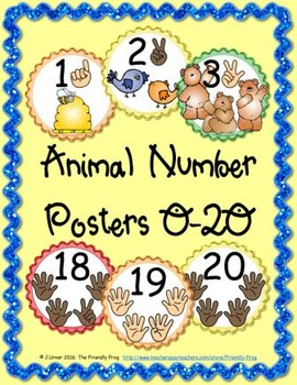 Animal Number Posters (round)