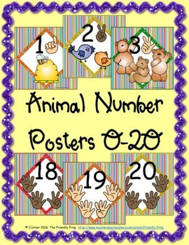 Animal Number Posters (square)