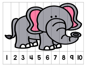 Skip Counting Number Puzzles - Animals