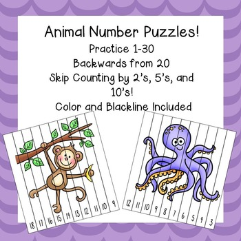 Number Puzzles / Learning numbers / Counting Practice