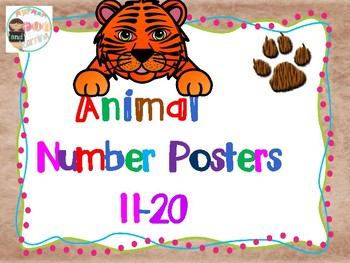 Animal Number posters 11-20