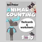 Animal Number Flashcards 1 - 10