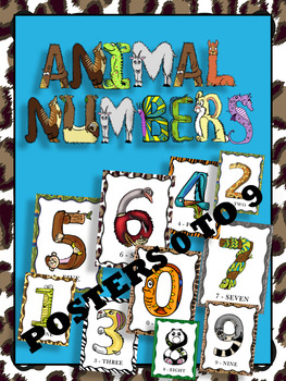 Animal Numbers Posters  -  0 To 9
