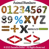 Animal Numbers Clip Art by Jeanette Baker