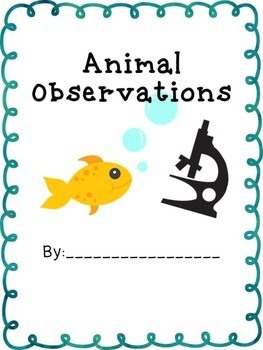 Animal Observations Book