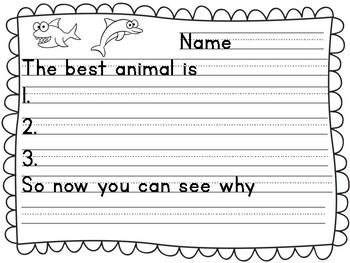 Animal Opinion Writing