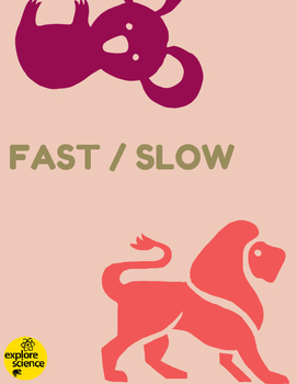 Animal Opposites: Fast/Slow Activity Kit (Ages 3-12, NGSS & CC)