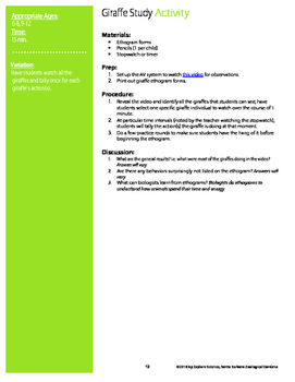 Animal Opposites: Tall/Short Activity Kit (Ages 3-12, NGSS & CC)