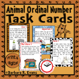 Animal Ordinal Numbers Task Cards