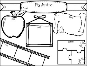 Animal Organizer - Can, Have, Are, Eat, Live