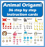 Animal Origami Folding - 36 step by step instruction cards
