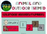 Animal/Outdoor Themed Calendar Headers and Numbers