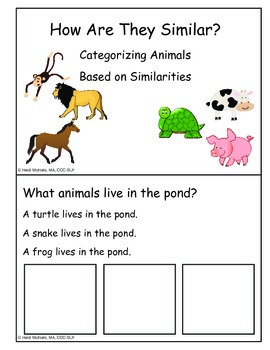 Animal Pack Add-On: Categorization of Animals by Similarities