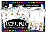 Animal Pack- Habitats, Food, Coverings