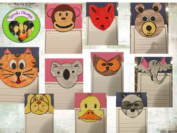 Animal Page Toppers with Writing