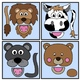 Animal Paper Bag Puppet Clip Art Set: Clip Art Graphics for Teachers