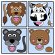 Animal Paper Bag Puppet Clip Art Set: Clip Art Graphics fo