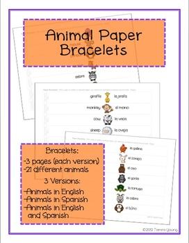Animal Paper Bracelets