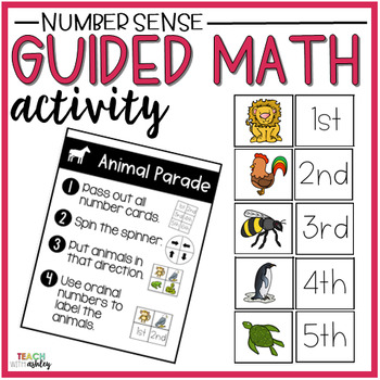 Number Sense Guided Math Activity Animal Parade