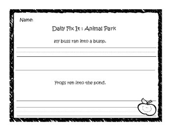 Animal Park Daily Fix It