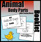 Animal Parts Booklet (With Writing Support)