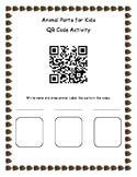 Animal Parts for Kids QR Activity