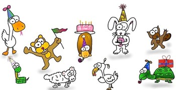 Animal Party Happy Birthday printable