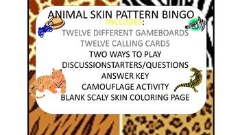 Animal Pattern Bingo