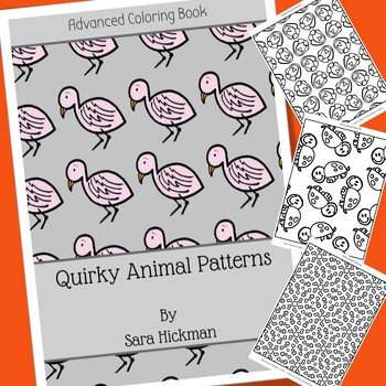 Adult coloring pages animal patterns | 350x350