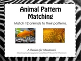 Animal Pattern Matching Game, Montessori