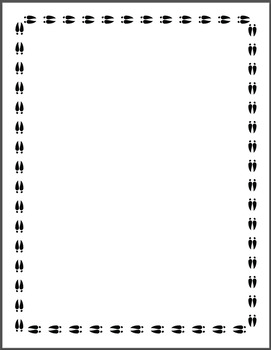Animal Paw Print Borders (RDS Clipart)