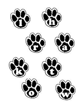 Animal Phonics File Folder Game